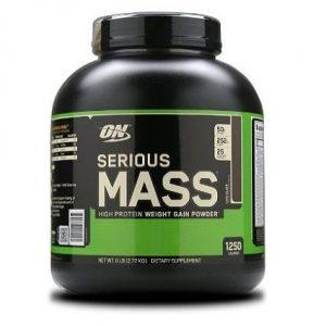 Batido de proteínas Serious Mass con sabor a chocolate