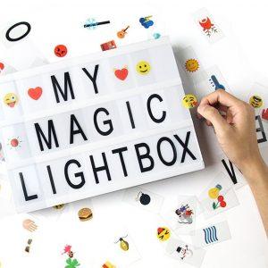 Caja de luz de cine con 170 Letras
