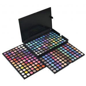 Paleta de colores con sombra de ojos