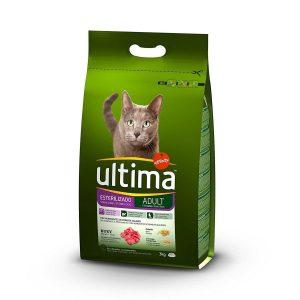 Pienso para Gatos Esterilizados con Buey Ultima