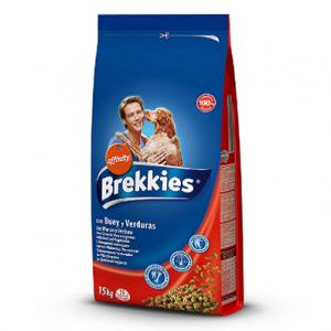 Pienso para perros Brekkies con buey y verduras