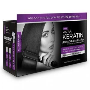 Tratamiento de alisado brasileño de queratina Kativa
