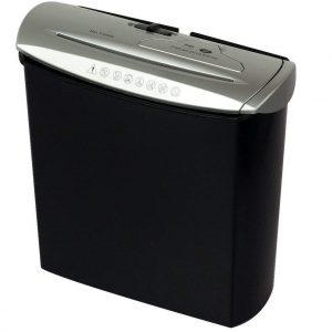 Trituradora de papel negra y plata